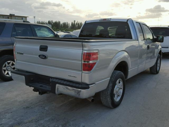 1FTEX1CM8BFB66031 - 2011 FORD F150 SUPER SILVER photo 4