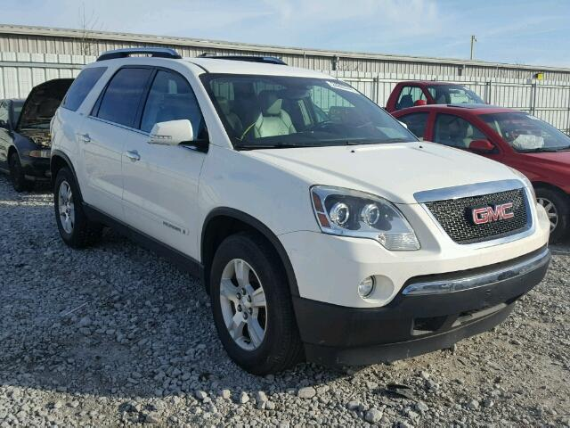 1GKER337X8J117679 - 2008 GMC ACADIA SLT WHITE photo 1