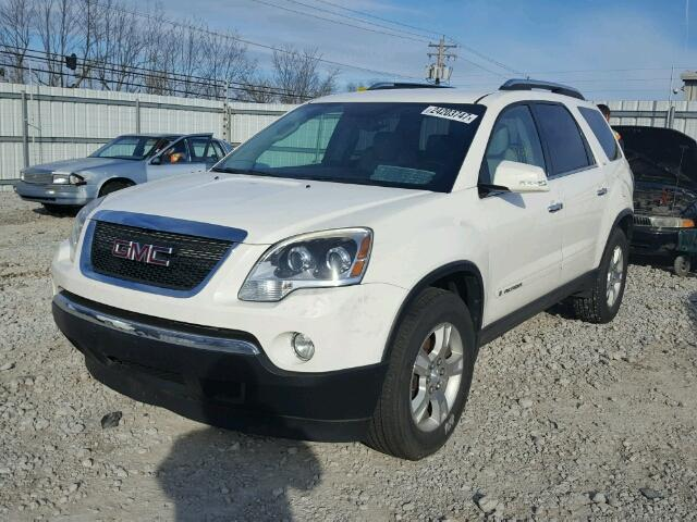 1GKER337X8J117679 - 2008 GMC ACADIA SLT WHITE photo 2