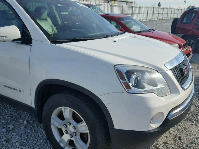 1GKER337X8J117679 - 2008 GMC ACADIA SLT WHITE photo 9
