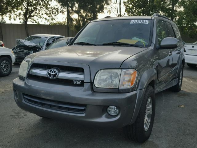 5TDZT38A55S260413 - 2005 TOYOTA SEQUOIA LI GRAY photo 2