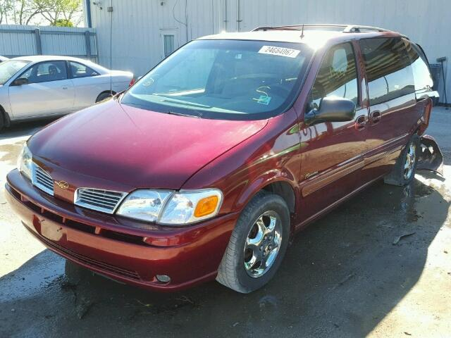 1GHDX13E42D114230 - 2002 OLDSMOBILE SILHOUETTE RED photo 2