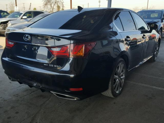 JTHCE1BL2FA000160 - 2015 LEXUS GS 350 BLACK photo 4