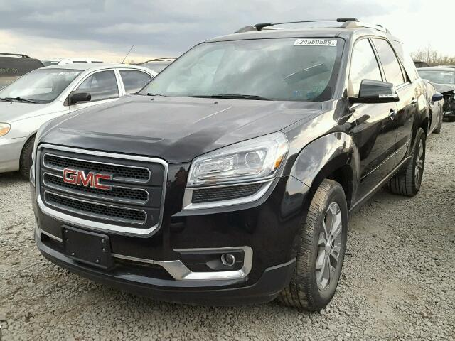 1GKKRRKD2EJ336449 - 2014 GMC ACADIA SLT BLACK photo 2