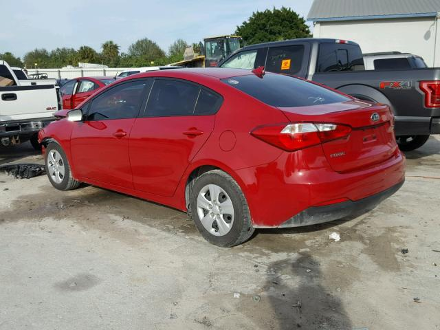 KNAFK4A69G5502689 - 2016 KIA FORTE LX RED photo 3