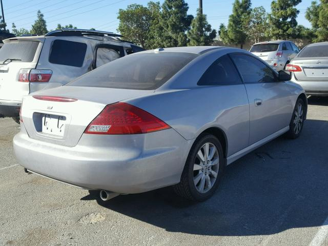 1HGCM82627A001271   2007 HONDA ACCORD EX SILVER Photo 4