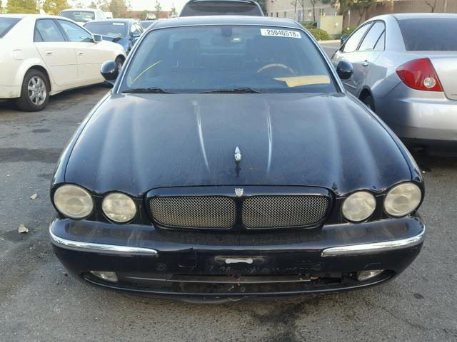 SAJWA73B04TG19042 - 2004 JAGUAR XJR S BLACK photo 9
