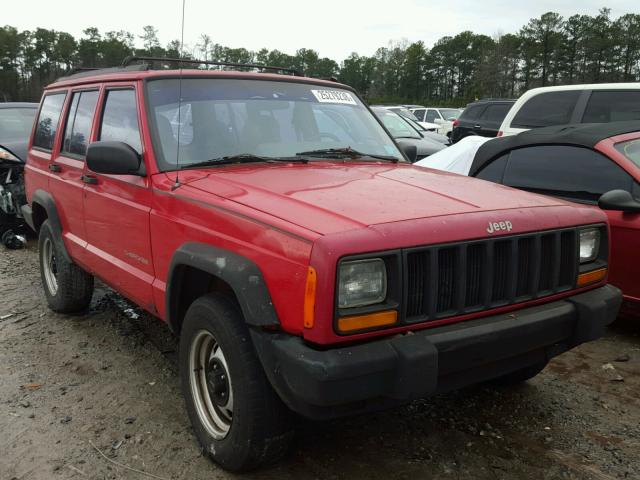 1J4FT28S8VL605824 - 1997 JEEP CHEROKEE S RED photo 1