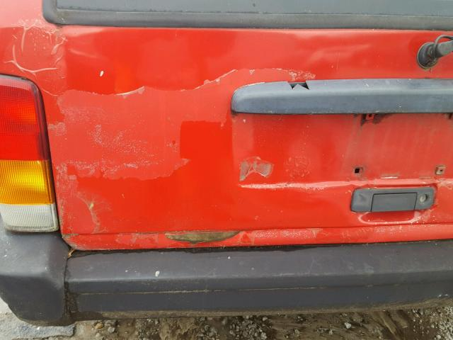 1J4FT28S8VL605824 - 1997 JEEP CHEROKEE S RED photo 9