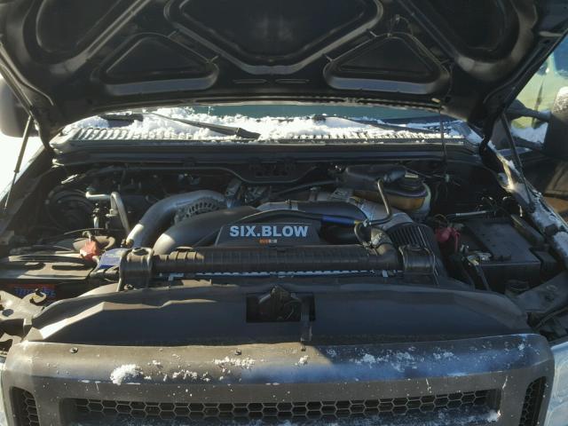 1FTWX31P05EC28903 - 2005 FORD F350 SRW S BLACK photo 7