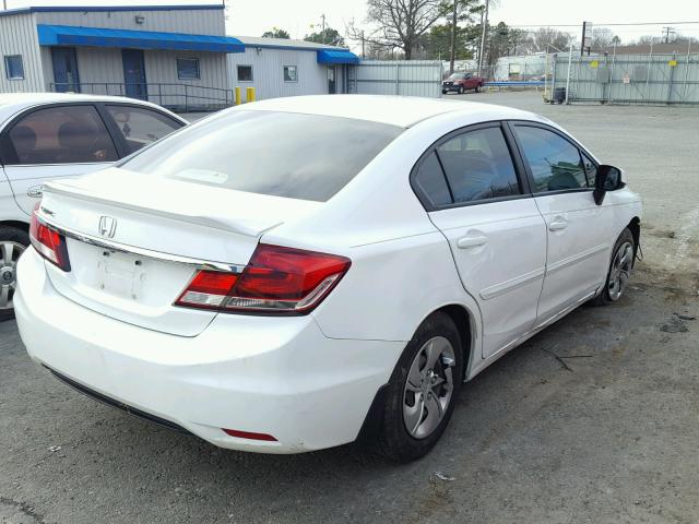 2HGFB2F54DH531935   2013 HONDA CIVIC LX WHITE Photo 4