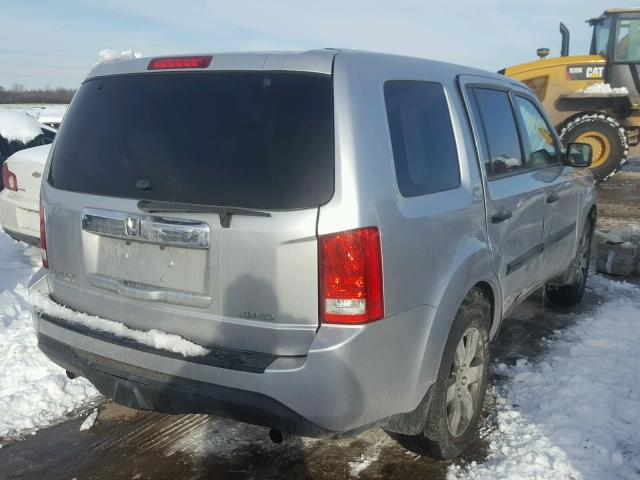 5FNYF4H28DB045631   2013 HONDA PILOT LX SILVER Photo 4