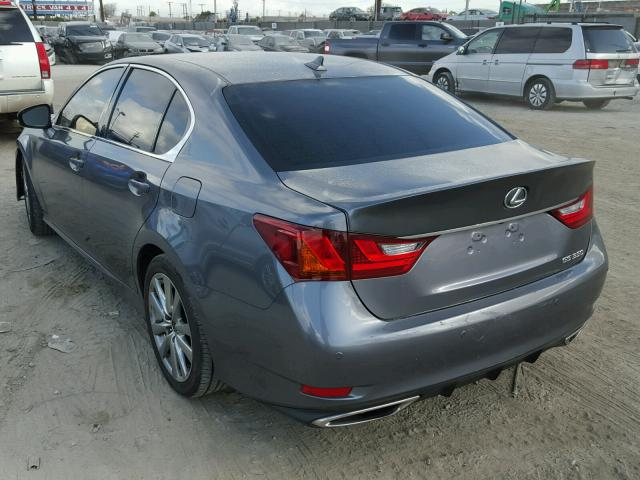 JTHBE1BL6D5003533 - 2013 LEXUS GS 350 GRAY photo 3