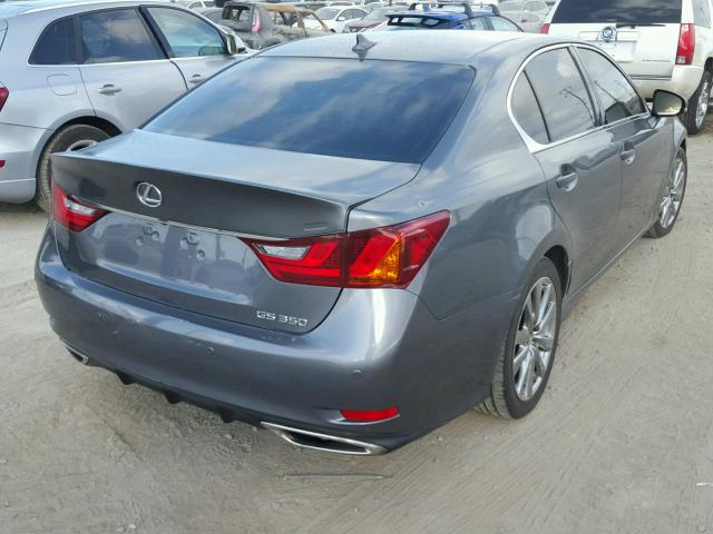 JTHBE1BL6D5003533 - 2013 LEXUS GS 350 GRAY photo 4