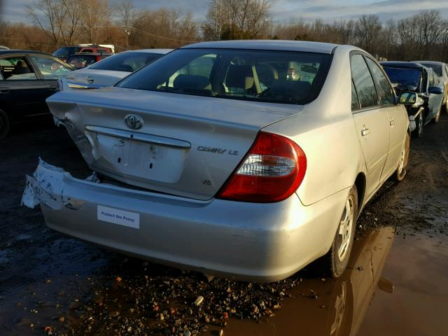 4T1BF32K22U502149 - 2002 TOYOTA CAMRY LE SILVER photo 4
