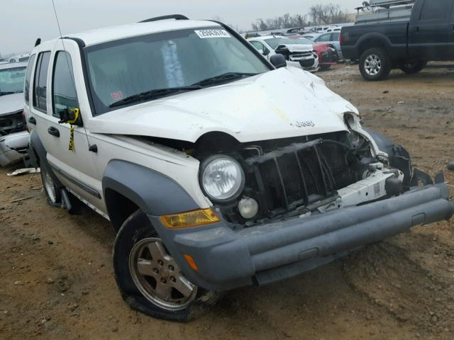 1J4GL48K35W553601 - 2005 JEEP LIBERTY SP WHITE photo 1