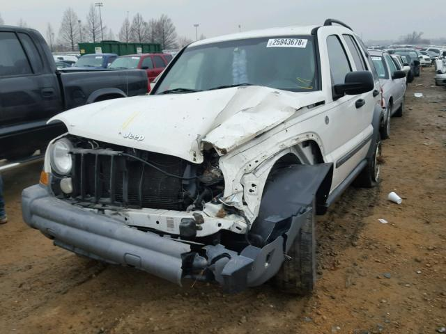 1J4GL48K35W553601 - 2005 JEEP LIBERTY SP WHITE photo 2
