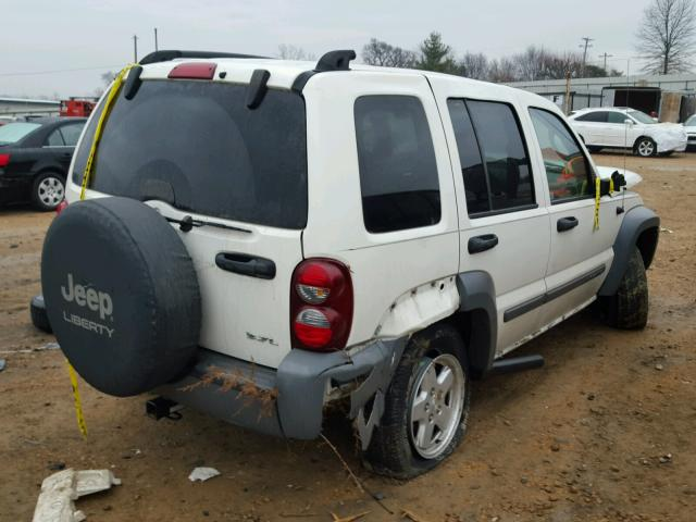 1J4GL48K35W553601 - 2005 JEEP LIBERTY SP WHITE photo 4