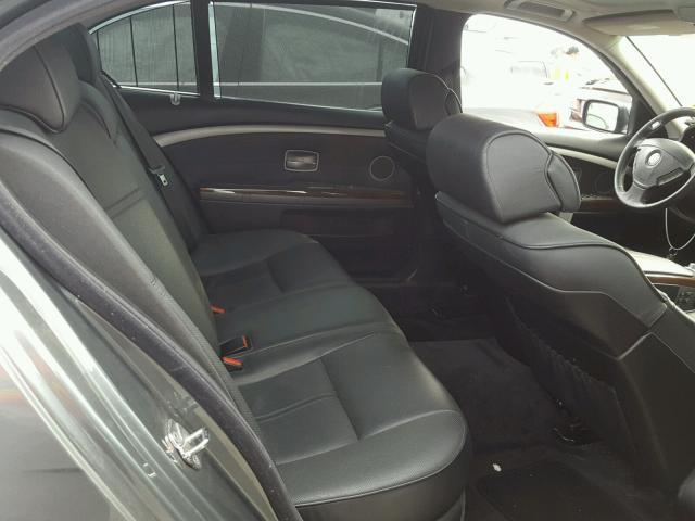WBAHN83538DT81435 - 2008 BMW 750 LI GRAY photo 6