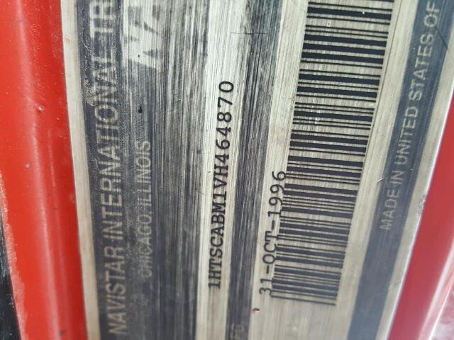 1HTSCABM1VH464870 - 1997 INTERNATIONAL 4000 4700 RED photo 10