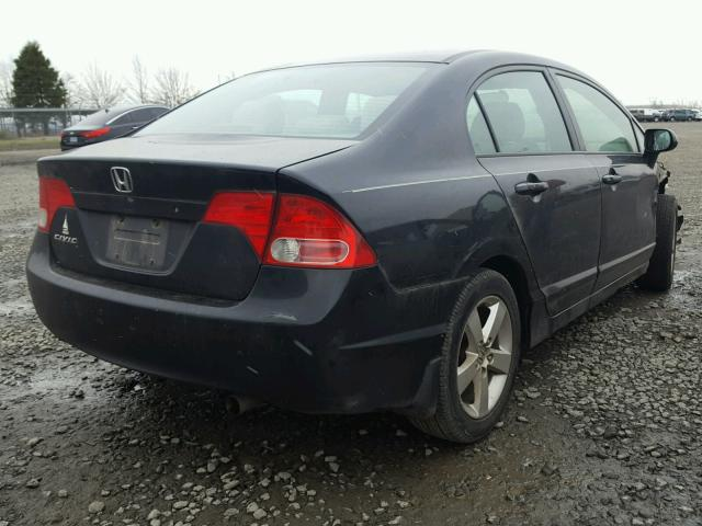 1HGFA16817L112990   2007 HONDA CIVIC EX BLACK Photo 4