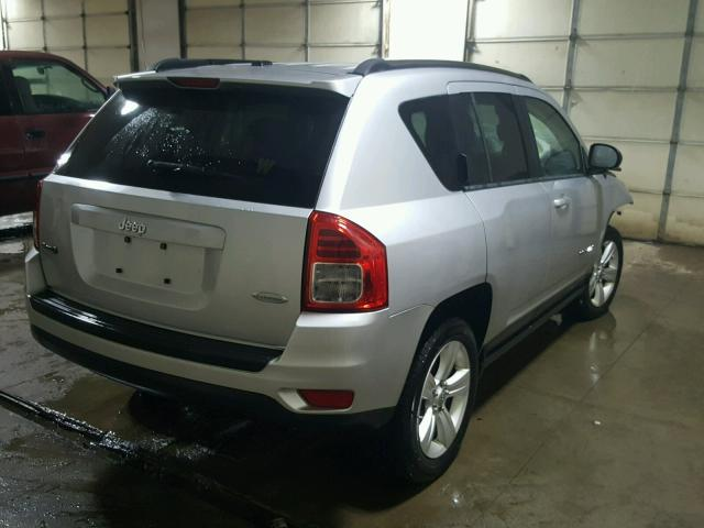 1J4NF1FBXBD259362 - 2011 JEEP COMPASS SP SILVER photo 4