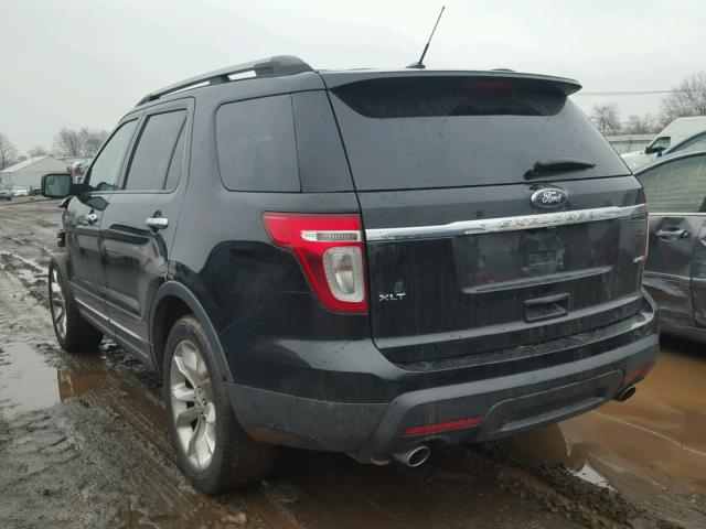 1FMHK8D84CGA10923 - 2012 FORD EXPLORER X BLACK photo 3