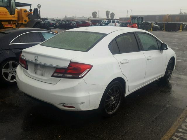 19XFB2F84DE268057   2013 HONDA CIVIC EX WHITE Photo 4