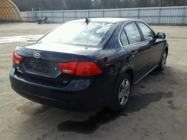 KNAGE228295367297   2009 KIA OPTIMA LX BLACK Photo 4