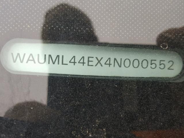 WAUML44EX4N000552 - 2004 AUDI A8 L QUATT SILVER photo 10