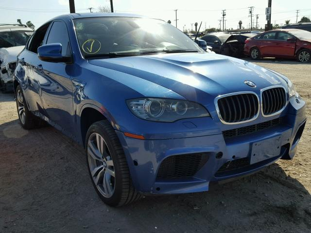 5YMGZ0C56E0C40523 - 2014 BMW X6 M BLUE photo 1
