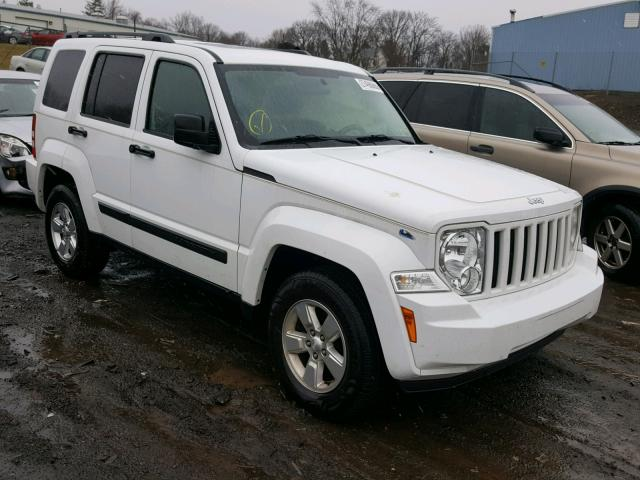 1C4PJMAK3CW147174 - 2012 JEEP LIBERTY SP WHITE photo 1