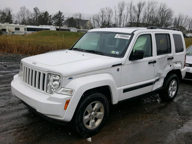 1C4PJMAK3CW147174 - 2012 JEEP LIBERTY SP WHITE photo 2