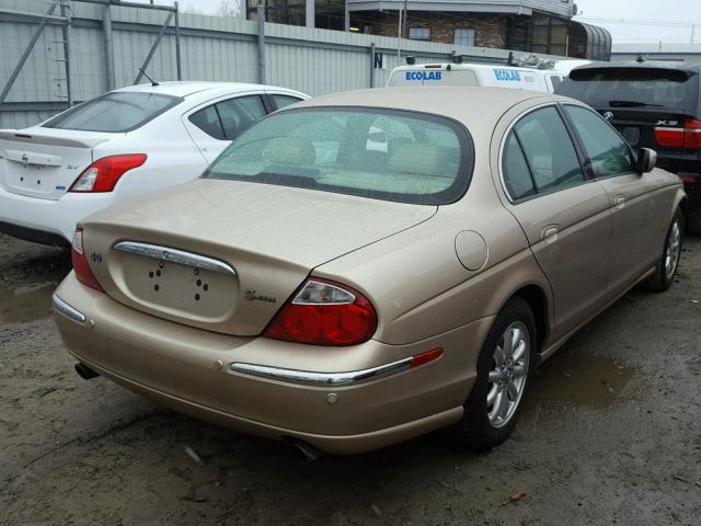 SAJDA01P42GM29406   2002 JAGUAR S TYPE TAN Photo 4