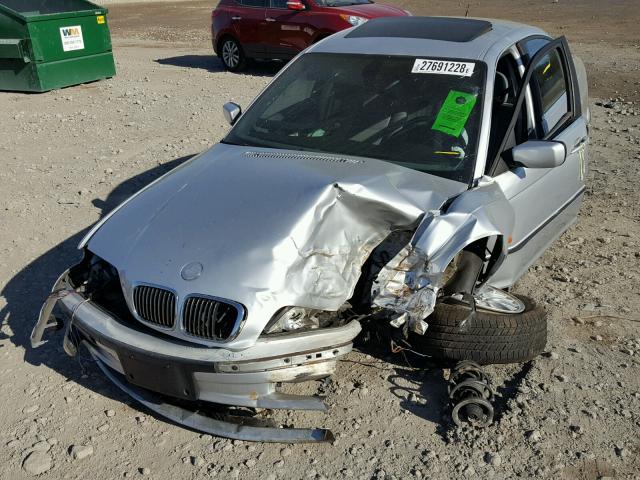WBAAM5344YFR20434 - 2000 BMW 328 I SILVER photo 2