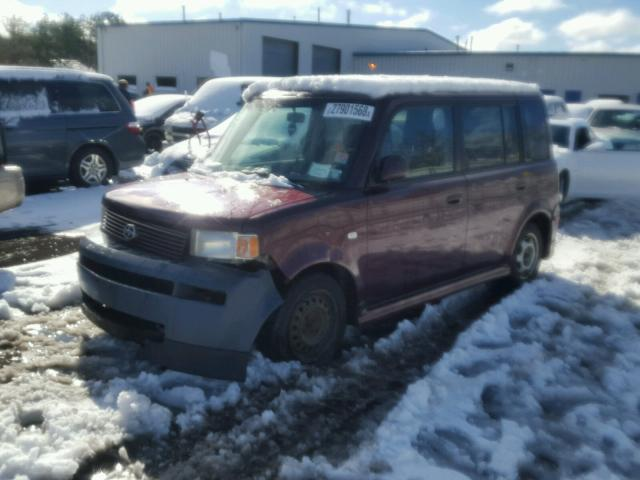 JTLKT324050174776   2005 TOYOTA SCION XB MAROON Photo 2