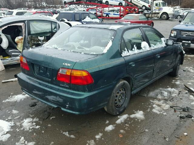 2HGEJ6619YH552191   2000 HONDA CIVIC BASE GREEN Photo 4