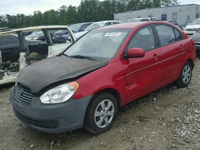 KMHCN4ACXBU616942 - 2011 HYUNDAI ACCENT RED photo 2