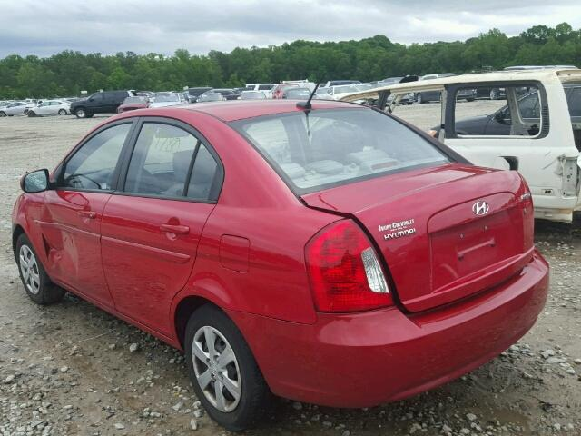 KMHCN4ACXBU616942 - 2011 HYUNDAI ACCENT RED photo 3