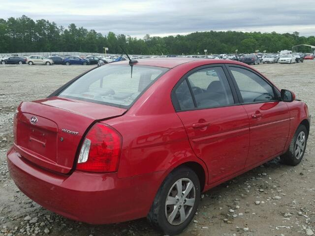 KMHCN4ACXBU616942 - 2011 HYUNDAI ACCENT RED photo 4