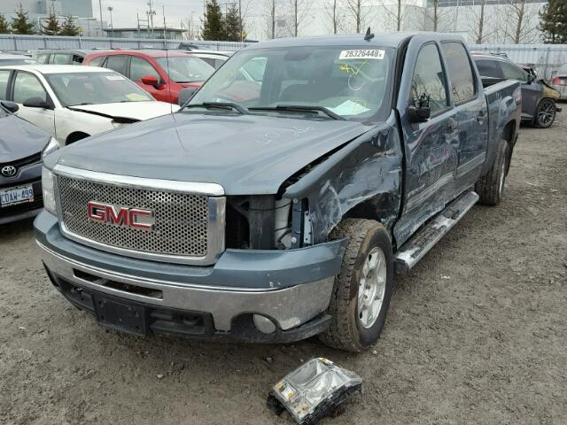 3GTRKVE33AG125279 - 2010 GMC SIERRA K15 BLUE photo 2