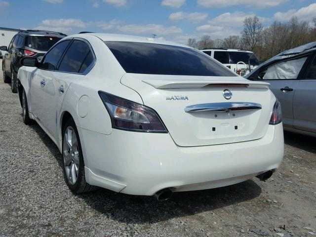 White Nissan Maxima >> 2012 Nissan Maxima S White 1n4aa5ap0cc824101 Price History History Of Past Auctions