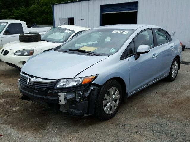19XFB2F51CE062439 - 2012 HONDA CIVIC LX BLUE photo 2