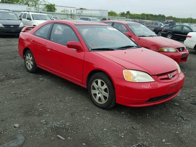 1HGEM22933L068542 - 2003 HONDA CIVIC EX RED photo 1