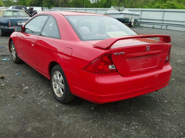 1HGEM22933L068542 - 2003 HONDA CIVIC EX RED photo 3