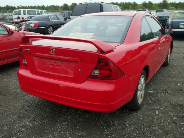 1HGEM22933L068542 - 2003 HONDA CIVIC EX RED photo 4