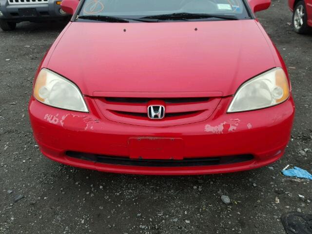 1HGEM22933L068542 - 2003 HONDA CIVIC EX RED photo 7