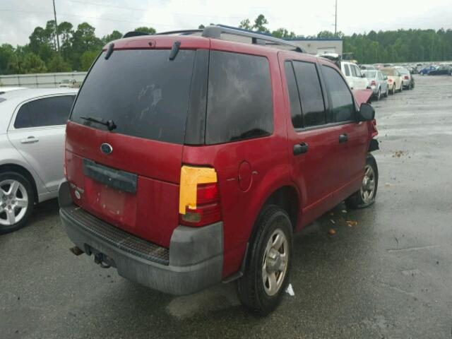 1FMZU62K93UB10793 - 2003 FORD EXPLORER RED photo 4