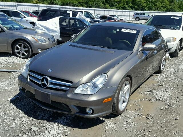 WDDDJ7CB6BA172752 - 2011 MERCEDES-BENZ CLS GRAY photo 2