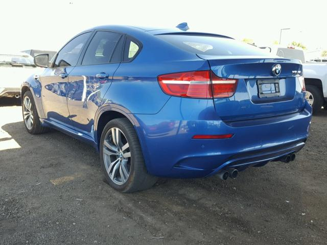 5YMGZ0C56E0C40523 - 2014 BMW X6 M BLUE photo 3